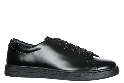 e8885884bf4e Prada Herrenschuhe Herren Leder Schuhe Sneakers Schwarz Prada Herrenschuhe  Herren Leder Schuhe Sneakers Schwarz ...