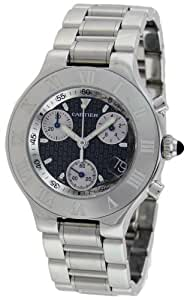 Cartier Men's W10172T2 Must 21 Chronoscaph Stainless Steel Chronograph Watch