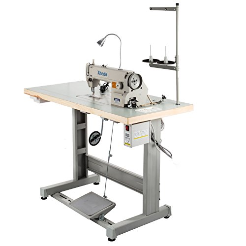 VEVOR Industrial Sewing Machine DDL8700 Lockstitch Sewing Machine with Servo Motor + Table Stand + LED Lamp Commercial Grade Sewing Machine for Sewing All Types of Fabrics (DDL-8700) (Industrial Table Sewing Machine)