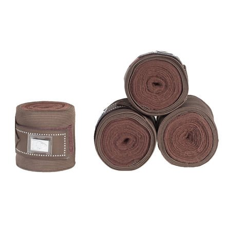 Horze Crescendo Monarch Combi Wraps, Dark Brown - One Size