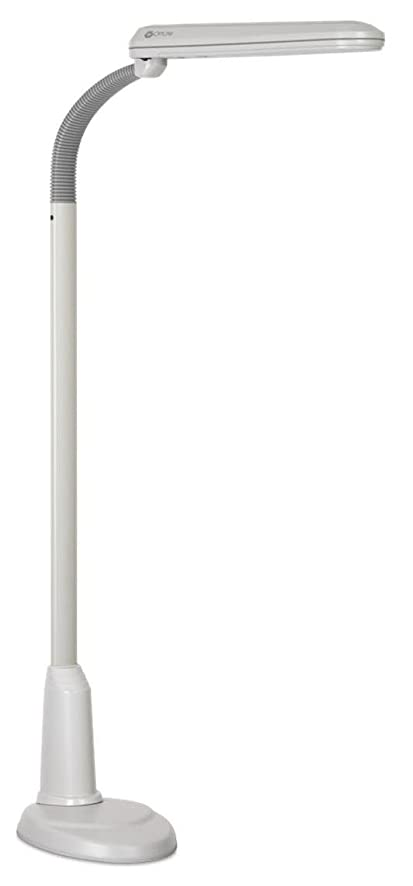 Ott-Lite L24554 Task Plus High-Definition 24-Watt Floor Lamp, Dove ...