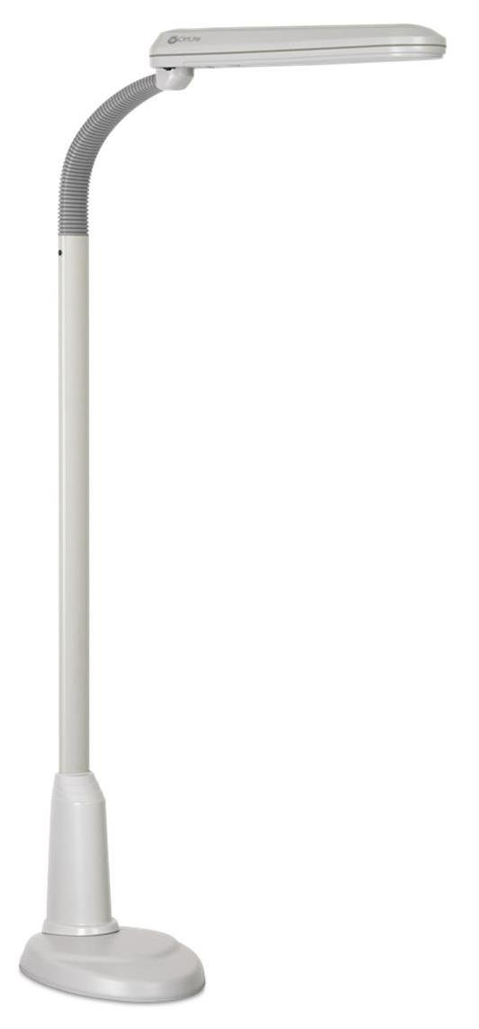 Ott-Lite L24554 Task Plus High-Definition 24-Watt Floor Lamp, Dove Grey