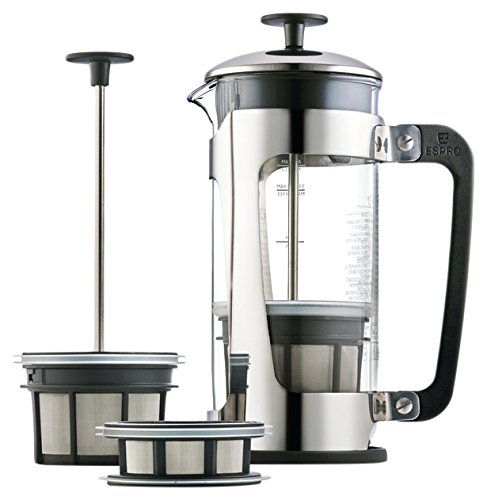 Espro P5 Glass Press, 32-oz, Stainless (Espro French Coffee Maker 18 Oz compare prices)