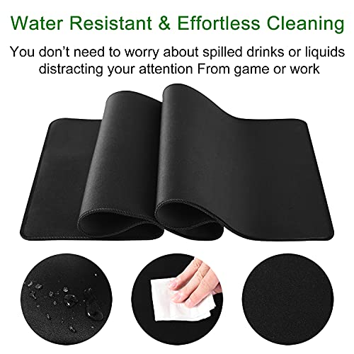 Miorkly Gaming Mouse Pad/Mat 800x300x2mm Extended Large Size XXL Mousepad, Non-slip Rubber Base, High-precision Surface and Anti Fray Stitched Edges Waterproof Mouse Pad for Office & Gaming and Home