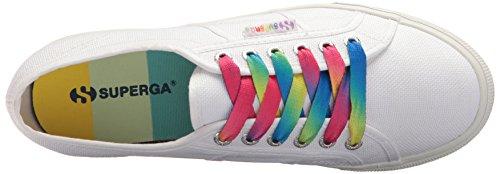 Superga Womens 2790 Cotw Flerfarget Yttersåle Sneaker Hvit / Multi