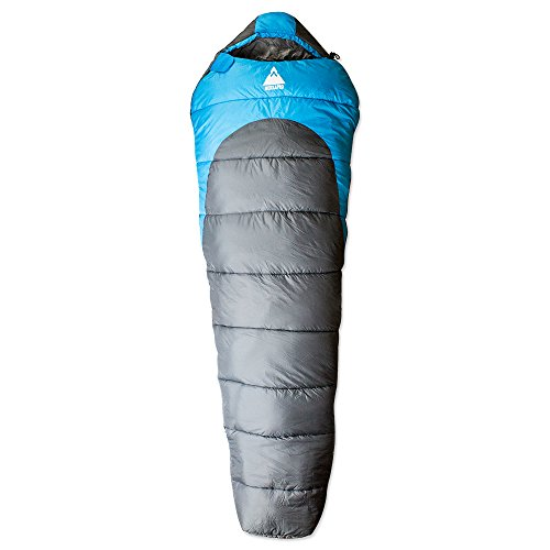 Three Season Ultra Lightweight Mummy Sleeping Bag +20°F - SEQUOIA Compact Camping Hiking Backpacking (All Weather Sleeping Bag)