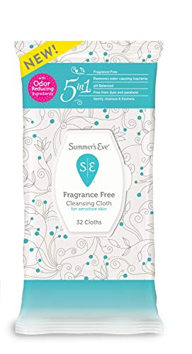 - Summer's Eve Cleansing Cloths | Fragrance Free | pH-Balanced | 32 Count