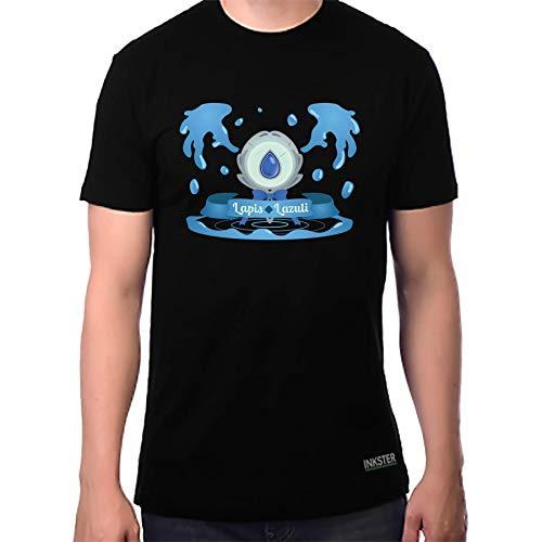 Inksterinc Steven Universe Shirt Lapis Lazuli Steven Universe T-Shirt - Steven Universe T Shirt Steven Universe Lapis Lazuli Steven Universe (Large, Black) (Steven Universe San Diego Comic Con 2017)