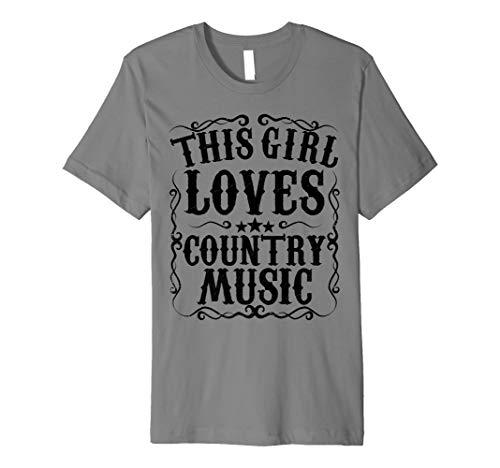 This Girl Loves Country Music Vintage Concert Nashville Gift Premium T-Shirt