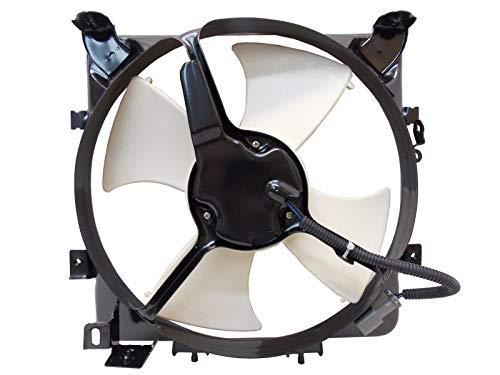 Sunbelt AC Condenser Fan Assembly For Honda Civic Civic del Sol HO3113103 Drop in Fitment ()