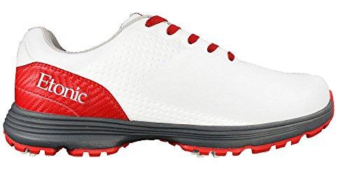Etonic Golf- Stabilizer Shoes White/Red Size 12 Medium EG800WRD (Certified Refurbished)