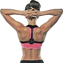 Back Posture Corrector for Women and Men, Adjustable Posture Brace, Effective Upper Back Support and Straightener for Back Pain Relief with 2 Detachable Pads for Extra Comfort