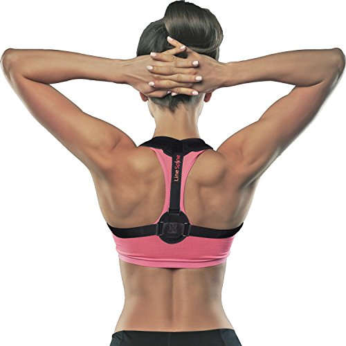 Back Posture Corrector for Women and Men, Adjustable Posture Brace, Effective Upper Back Support and Straightener for Back Pain Relief with 2 Detachable Pads for Extra Comfort by LineSpine