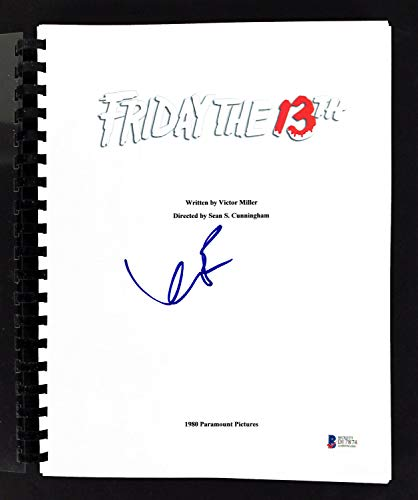 Kevin Bacon Autographed Signed Friday The 13Th Movie Script Bas #D17874 - Certified - Friday Bacon 13th Kevin The