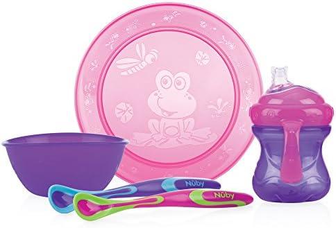 NUBY rose violet fille Repas Set Toddler