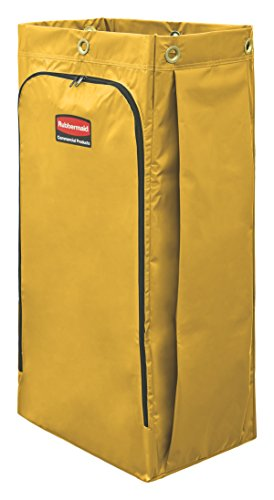 Rubbermaid Commercial High Capacity Cleaning Cart Bag, 34 Gallon, Yellow, 1966881 - Capacity Cleaning Cart