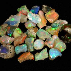 Top quality opal raw rock weight 59crt welo fire opal rough AAA quality opal fire rough natural Ethiopian opal raw rough use for jewelry#122