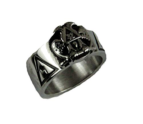 The Quiet Witness T68 Stainless Steel Scottish Rite Ring 14 & 32 Degree Mason 14th 32nd Masonic Jewelry Gift (9)