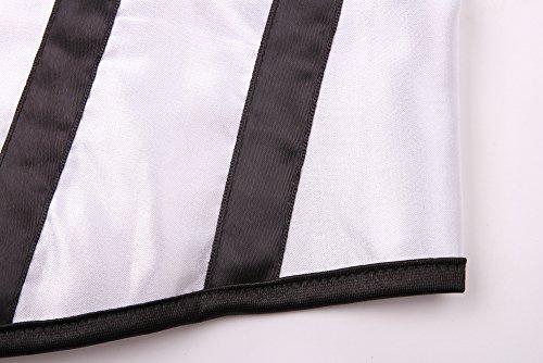 E-SHINE CO Cuerpo de las mujeres de la belleza del cors¨¦ de Underbust Sexy Halter cors¨¦ S-6XL Blanco Negro
