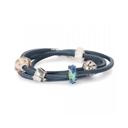 Trollbeads Bracelet/Necklace, Blue, 36 cm (l510736)