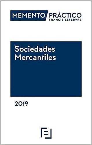 Memento Sociedades Mercantiles 2019 por Lefebvre-el Derecho