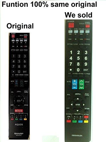 New Sharp Aquos GB004WJSA Replaced Remote control for LC-80LE857U LC-70LE857U LC-60LE857U LC-80LE757U LC-70LE757U LC-60LE757U LC-70LE755U LC-60LE755U LC-90LE657U LC-80LE657U LC-70LE657U LC-60LE657U LC-70LE655U LC-60LE655U LC-80LE650U LC-70LE650U LC-60LE65