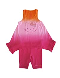 Sanrio Little Girls Fuchsia Ombre Hello Kitty Hanky Hem 2 Pc Pant Set 4-6X