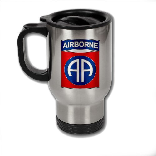 Stainless Steel Coffee Mug with U.S. Army 82nd Airborne Division