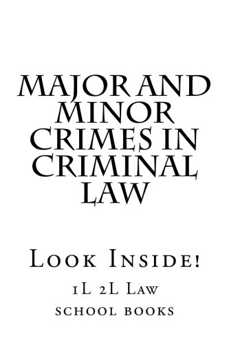 Major and Minor Crimes In Criminal Law: Look Inside!