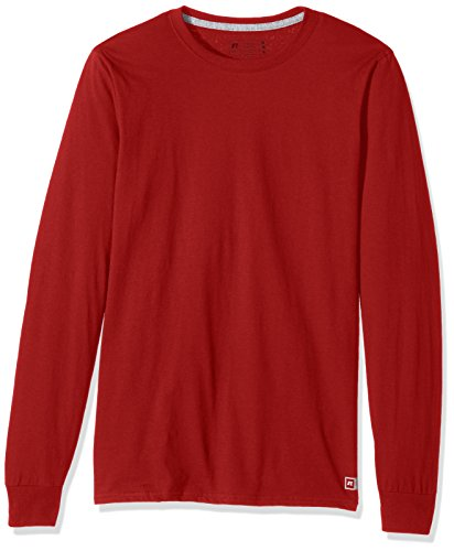 Russell Athletic Men's Essential Long Sleeve Tee, True Red, XXL