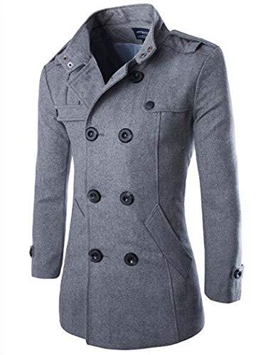 Manteau Pour Adong Veste Darkgray Homme L'hiver Chaud Coupe Laine vent Gentleman De darkgray m HqddRw