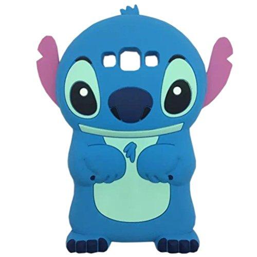 Galaxy J3 Case,Galaxy Express Prime Case, Phenix-Color 3D Cute Cartoon Monster Blue Giant Horn University Soft Silicon Gel Back Cover Case for Samsung J3 Amp Prime (#07) (07 Eva)