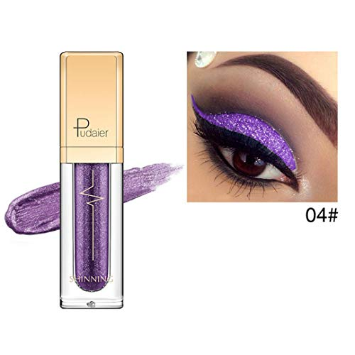 CYCTECH 6 Colors Waterproof Liquid Eyeliner High Pearl Glitter Shimmer Eyeshadow Pen (D)