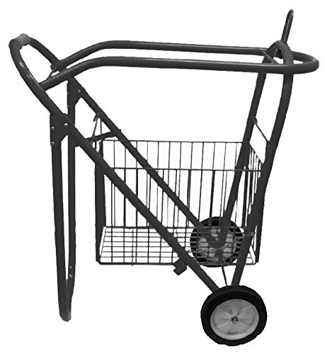 Rolling Saddle Rack Cart with Basket by Showman