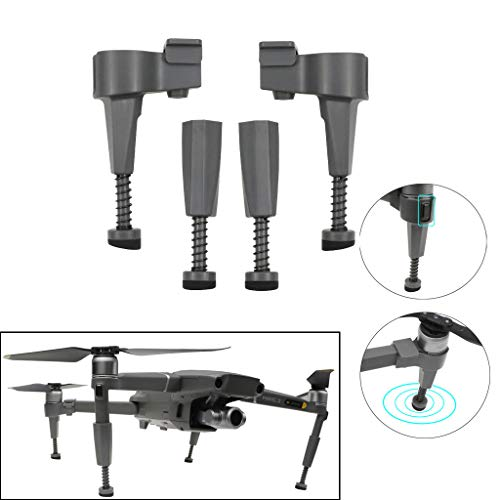 Amaping Landing Gear for DJI Mavic 2 Pro/ Zoo Drone Accessories Landing Skid Heightened Gadgets Fixture Carbon Fiber (Black) ()