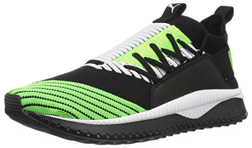 PUMA Men's Tsugi JUN Sneaker, Black-Green Gecko White, 11.5 M US