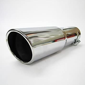 Autohobby 256 Auspuffblende Auspuff Universell Schalldampf Endrohr Blende Edelstahl bis 57mm /Ø Chrom