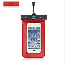 Compass Water Proof Diving Bag For iphone4 4s 5 5s Portable Outdoor WaterProof Pouch ( Color : Red )