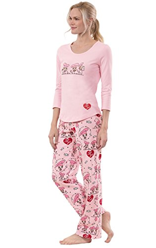 PajamaGram Exclusively Licensed: I Love Lucy PJs for Women, Pink, LRG (12-14) by PajamaGram (Image #2)