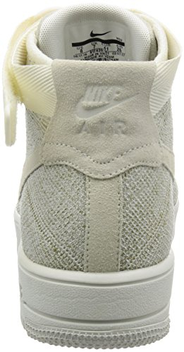 Nike Hombres Af1 Ultra Flyknit Media Baloncesto Zapato Sail / Sail-pale Gray