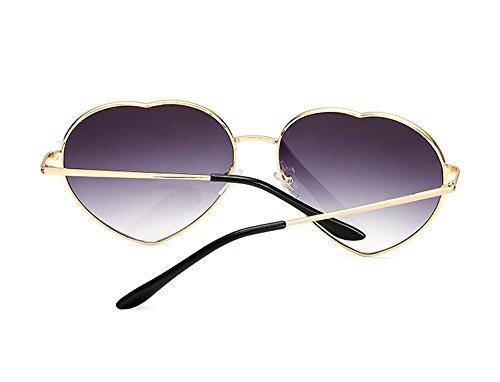 en coeur Classique de Huateng Lunettes polarisé soleil Gradient de Gris forme Glasses rétro Lens AtxqSwY