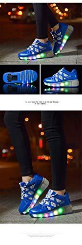 Laideqi Led Light Up Roller Skate Sneakers Kids Teens Boys Girls Flashing Designer Shoes Bikes Skates Ride Ons Children S Roller Skates Toys Games Inline Roller Skating