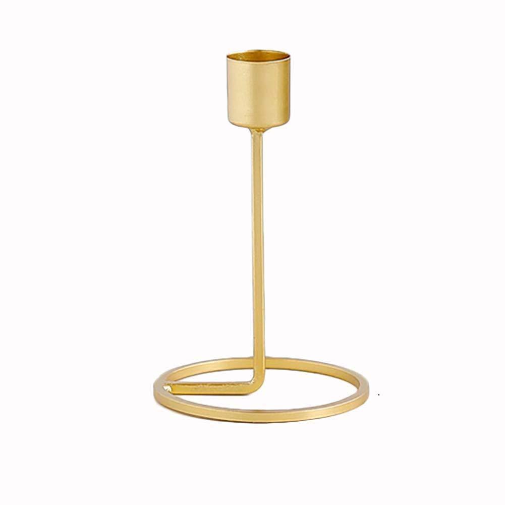 Depory Einzel-Kerzenst/änder Tischdeko Kerzenst/änder Hochzeit Eisen Kerzenst/änder Gold Ornament Halter 1 St/ück