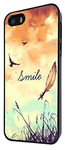 187 - Cute Birds And Sky Smile Fun Design iphone 4 4S Coque Fashion Trend Case Coque Protection Cover plastique et métal - Noir