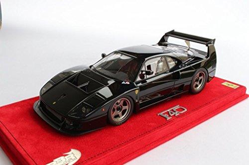 BBR P18131B Ferrari F40 LM 1989 Gloss Black with dust cover 1:18