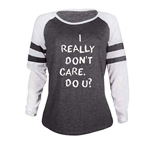 32d96c17 Orangeskycn Pullover Sweaters Women, Fashion Ladies Long Sleeve T Shirt  Clothes Splice Blouse Tops (R Dark Gray, XL)