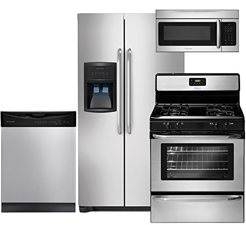 Frigidaire Stainless Steel Refrigerator (Frigidaire 4-Piece Stainless Steel Kitchen Package with FFHS2622MS 36