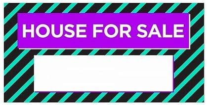 5-Pack 24x12 CGSignLab Modern Block Window Cling House for Sale
