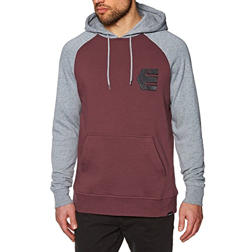 Etnies Mens Sweatshirt (Etnies Breakers Pullover Hoody X Large Grey Heather)