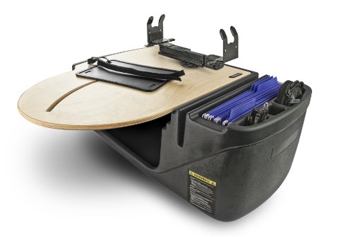 Road Pedestal Table - AutoExec (RoadTruckSuper-02Elite) RoadMaster Truck Desk with Built-In 200W Inverter and Printer Stand